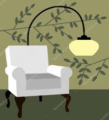 white armchair on natur background modern interior vector