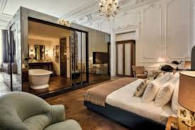 chambre haut de gamme une salle de bain ouverte sur la chambre pour ou contre idkrea