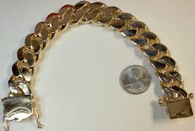 cuban link bracelet gold images Large 10k gold cuban link bracelet jpeg