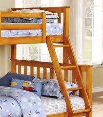 Pavo Bunk Bed 5200 Bunk Bed In Honey Pine Carson Honey Pine Bunk