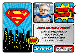 First Birthday Invitation Cards For Boys Superman Birthday Invitations Plumegiant Com