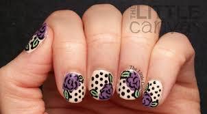 twinsie tuesday go to polish retro rose nail art the little