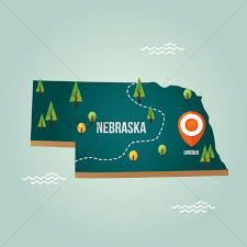 Nebraska Map Nebraska Map With Capital City Vector Image 1536731 Stockunlimited