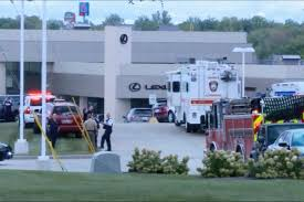 bmw dealership inside enraged customer shoots cops at bmw dealership new york post