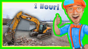 excavators for children with blippi 1 hour long children u0027s show