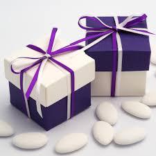 purple wedding favors two tone square box lid wedding favour boxes 10 pack purple