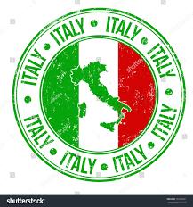 Flag Com Grunge Rubber Stamp Italy Flag Map Stock Vektorgrafik 167606051