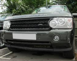 all black range rover gloss black supercharged front grille for range rover l322 gcat