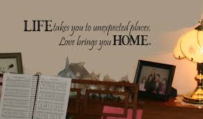 Home Art Decor by Wall Décor Plus More Wdpm130 Life Takes Us Love Brings Us Home