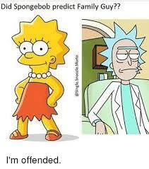 Funny Memes Family Guy - did spongebob predict family guy i m offended family guy meme on