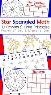 star spangled free printable math activities for the fourth of
