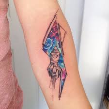 brilliant space inspired watercolor tattoos by adrian bascur