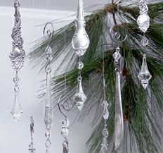 vintage silver plate ornament pair antique silver crystal