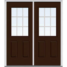 steel clad exterior doors brown steel doors front doors the home depot