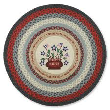 Jute Round Rugs by 1176 Americana Round Braided Jute Rug Sturbridge Yankee Workshop