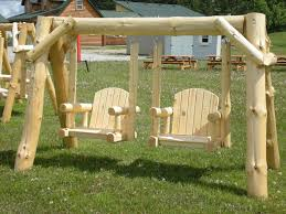 Very Garden Furniture Very Unique Log Swing Yes We Can Ship It To You Outdoor Log