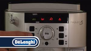 delonghi magnifica red light de longhi how to set the water hardness magnifica s ecam22 110 youtube