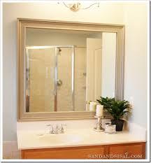 Framing Builder Grade Bathroom Mirror Transform Builder Grade Drab Into Custom Made Fab Sand And Sisal