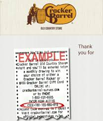 cracker barrel gift card cracker barrel survey sweepstakes win rocking chair or gift card