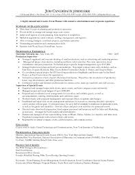 project manager sample resume format trade show project manager sample resume tenant contract template free wedding resume sample free resume example and writing download great special event planning creative event planner