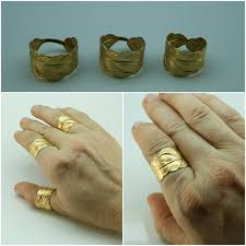 thumb rings for men gold feather ring mens and womens size 4 to 14 in silver