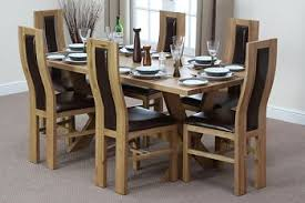 solid oak dining table and 6 chairs oak dining room sets new dining tables