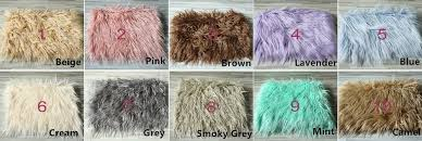 Newborn Photo Props 75 50cm Faux Fur Blanket Basket Stuffer Mongolia Fur Photography