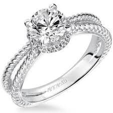 carved engagement rings serina split shank halo diamond engagement ring