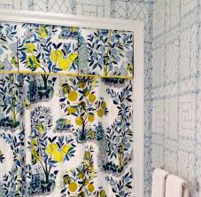 schumacher citrus garden pool shower curtain with valance and