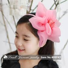 flower bands hair band big flower to fix the hair colors big