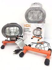 hdx portable halogen work light hdx 250 watt halogen portable work light 265669 ebay