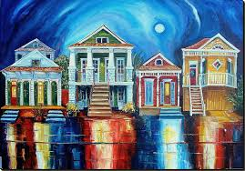 new orleans colorful houses new orleans art by diane millsap homes of new orleans
