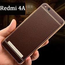 Xiaomi Redmi 4a For Xiaomi Redmi 4a Cover Gold Bumper Leather Skin Soft