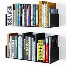 Wall Mounted Dvd Shelves by Amazon Com Wallniture Floating Wall Mount Metal U Shape Shelf