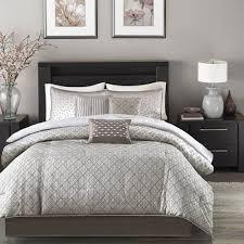 Silver Comforter Set Queen Madison Park Biloxi Comforter Set King Silver Diamonds