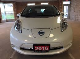 white nissan car used 2015 nissan leaf 4dr hb s 4 door car in oakville on 993222
