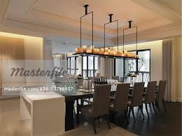Dining Room Candle Chandelier Dining Room Table With Candle Chandelier Stock Photo