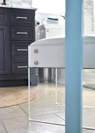 Lucite Stool Bathroom Serene Sophisticated Master Bathroom Reveal Jenna Burger
