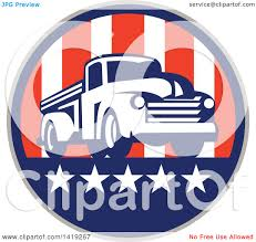 mud truck clip art clipart of a retro vintage pickup truck in an american themed
