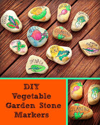 diy vegetable garden stone markers painted pomegranate