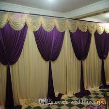 Stage Backdrops Wedding Stage Backdrops Decoration Romantic Romantic Purple With