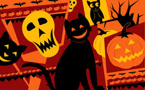 halloween colored background wallpaper vintage halloween wallpapers group 54