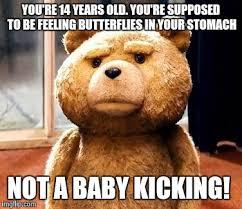 Baby Kicking Meme - ted meme imgflip