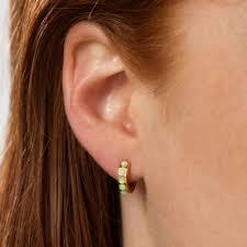 huggie hoop earrings opal huggie hoop earrings by scream pretty notonthehighstreet
