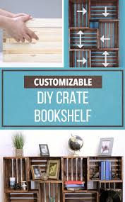Crates For Bookshelves - these crate bookshelves are customizable and easy on the budget