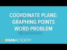 coordinate plane graphing coordinate plane graphing word problem khan academy