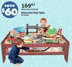 imaginarium train table 100 pieces toys r us imaginarium metro line train table redflagdeals com
