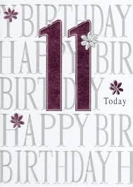 happy 11th birthday foiled greeting card cards kates