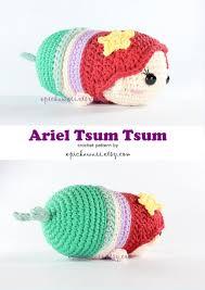 etsy crochet pattern amigurumi pattern ariel tsum tsum crochet amigurumi doll