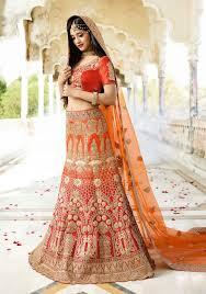 Red Lenghas For Asian Brides Online Uk Red U0026 Orange Bridal Wear